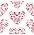 Navajo red heart shape ornament seamless vector image vector image