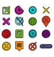 no icon set color outline style vector image