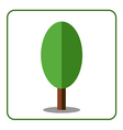 Oak poplar tree icon flat sign vector image vector image