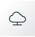 online cloud outline symbol premium quality vector image vector image