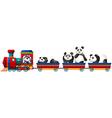 Panda and train vector image vector image
