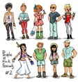 People of Rock Music Festivals set 2 vector image