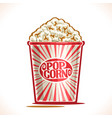poster for pop corn vector image