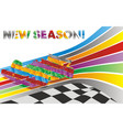 racing car on background track vector image