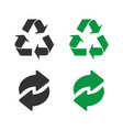 recycle green and black icons recycle icons vector image vector image