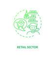 retail sector green gradient concept icon vector image vector image
