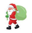 santa claus carrying bag icon vector image vector image