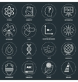Science areas icons outline vector image