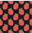 Seamless watercolor pattern with funny raspberries vector image vector image