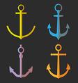 set anchor symbols or logo vector image vector image