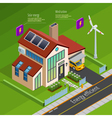 Smart Home Energy Generation Isometric Poster vector image vector image