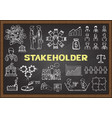 stakeholder vector image vector image