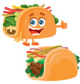 tacos food and taco character on different layers vector image vector image