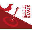 target marketing vector image