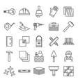 tiler worker icons set outline style