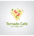 tornado cafe vector image vector image