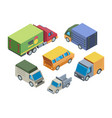 truck models isometric 3d set vector image