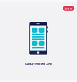 two color smartphone app icon from education vector image