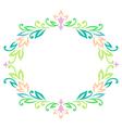 vintage ellipse frame color vector image vector image