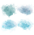 watercolor stains set isolated on white background vector image vector image