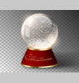white snow globe empty template isolated on vector image