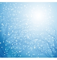 winter tree and snow vector image vector image