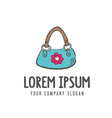 women bag accessories logo design concept template vector image