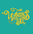 women day logo vector image vector image