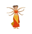 Women Performing 1000 Arms Indian Dance vector image vector image