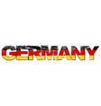 word germany with german flag under it distressed vector image vector image