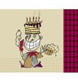 clown sketch vector image