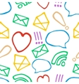 Hand drawn pattern with social media elements vector image