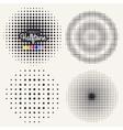 Grunge halftone background vector image