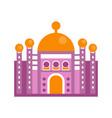 purple majestic palace building vector image