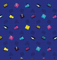 90s vintage pattern background vector image vector image