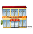 a supermarket vector image vector image