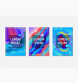 abstract glowing fluid banner set vector image vector image
