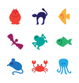 Animals icons set vector image