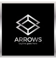 arrow rhomb line logo infinity cube royal luxury vector image