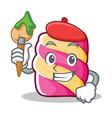 artist marshmallow character cartoon style