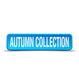 autumn collection blue 3d realistic square vector image vector image