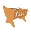 Baby cradle cartoon icon vector image
