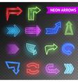 Bright Neon Arrows Set vector image vector image