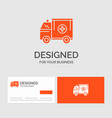 business logo template for ambulance truck vector image vector image