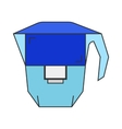 Carafe water filter Flat icon object vector image vector image