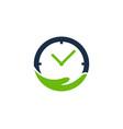 care time logo icon design vector image