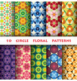 Circle floral Pattern Style vector image vector image