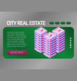 city real estate banner concept web page header vector image