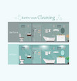 clean and dirty bathroom interior with modern vector image vector image