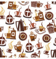 coffee and beans pattern vector image vector image